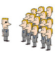 young employees and manager cartoon vector image vector image