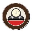 circular frame with vintage clock vector image