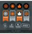 four seasons symbol for stamp label tag sticker vector image