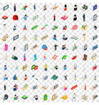 100 avatar icons set isometric 3d style vector image vector image