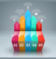 abstract 3d digital infographic vector image