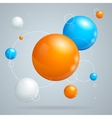 abstract background with colored balls vector image vector image