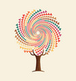 abstract boho style tree mandala concept vector image