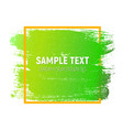 abstract brush stroke designs texture with frame vector image vector image