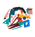 abstract retro composition with geometric shapes vector image