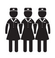 air hostess stewardess icon design vector image vector image