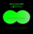 binoculars view of binoculars vector image vector image