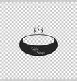 bowl of hot soup icon isolated vector image