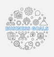 business goals round in vector image
