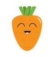 carrot with leaves icon orange color vegetable vector image vector image