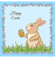 cartoon rabbit card vector image vector image