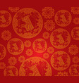 chinese new year dog pattern background vector image vector image