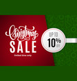 christmas holiday sale 10 percent off vector image