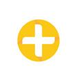 circle health cross logo image vector image vector image