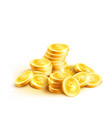 coins icon of golden dollar coin cent pile vector image vector image