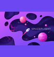 colorful cartoon outer space background design vector image vector image
