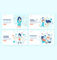 domestic animals insurance landing page templates vector image vector image