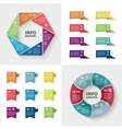 ector infographics set collection colorful vector image vector image
