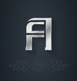 elegant silver font Letter A Template for company vector image
