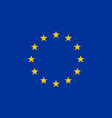 european union flag flat layout vector image