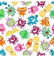 Funny monsters aliens beasts seamless pattern vector image