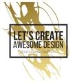 Golden hand drawn design elements vector image vector image