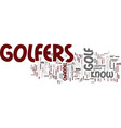 golfers text background word cloud concept vector image vector image