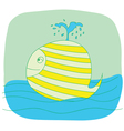 green small whale vector image