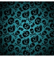 Halloween background with pumpkin and skeleton vector image vector image