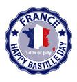 happy bastille day july 14 viva france s vector image vector image