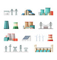 industrial and ecological electric power vector image vector image