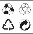 industrial conventional signs the recycling vector image