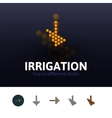 Irrigation icon in different style vector image vector image