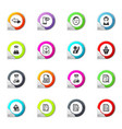 job icons set vector image vector image