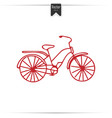 Kid doodle of bicycle with isolated