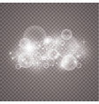 lights on transparent background magic concept vector image