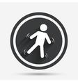 Man falls sign icon Falling down human symbol vector image