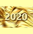 modern gold flow poster wave liquid shape color vector image