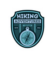 nature hiking vintage isolated badge vector image vector image