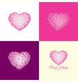 pixel heart logo and icon vector image