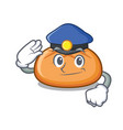 police hamburger bun character cartoon vector image