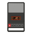 portable cassette tape player flat vector image vector image