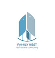 real estate copmany logo template real estate vector image vector image