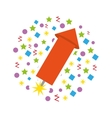 rocket firework isolated icon vector image vector image