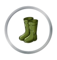 Rubber boots icon in cartoon style isolated on vector image vector image