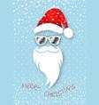 santa claus christmas wear mirrored sunglasses vector image