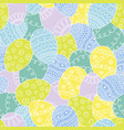 seamless pattern with easter hand drawn eggs vector image vector image