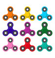 set of spinners relaxing trend toy for children vector image vector image