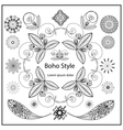 Set ornamental Boho style elements vector image vector image