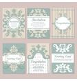 set wedding invitation card design flyer pages vector image